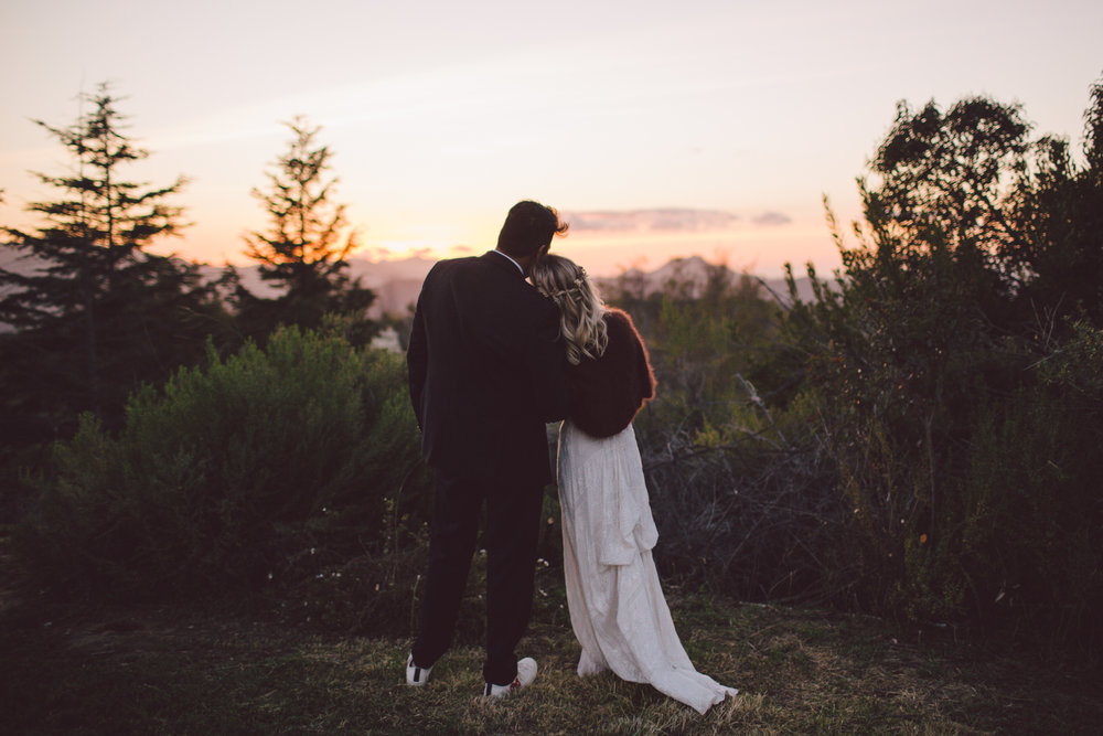sunset-malibu-mountains-wedding-portraits-bohemian