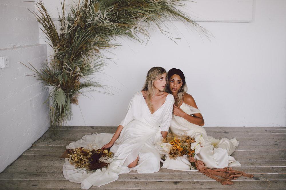 bohemian brides loho bride simple dress greenery lookbook