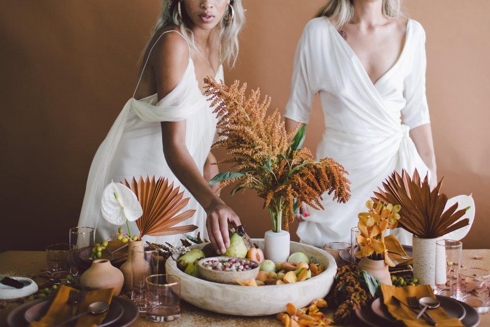 feast inspiration fall sienna style shoot wedding fruit table