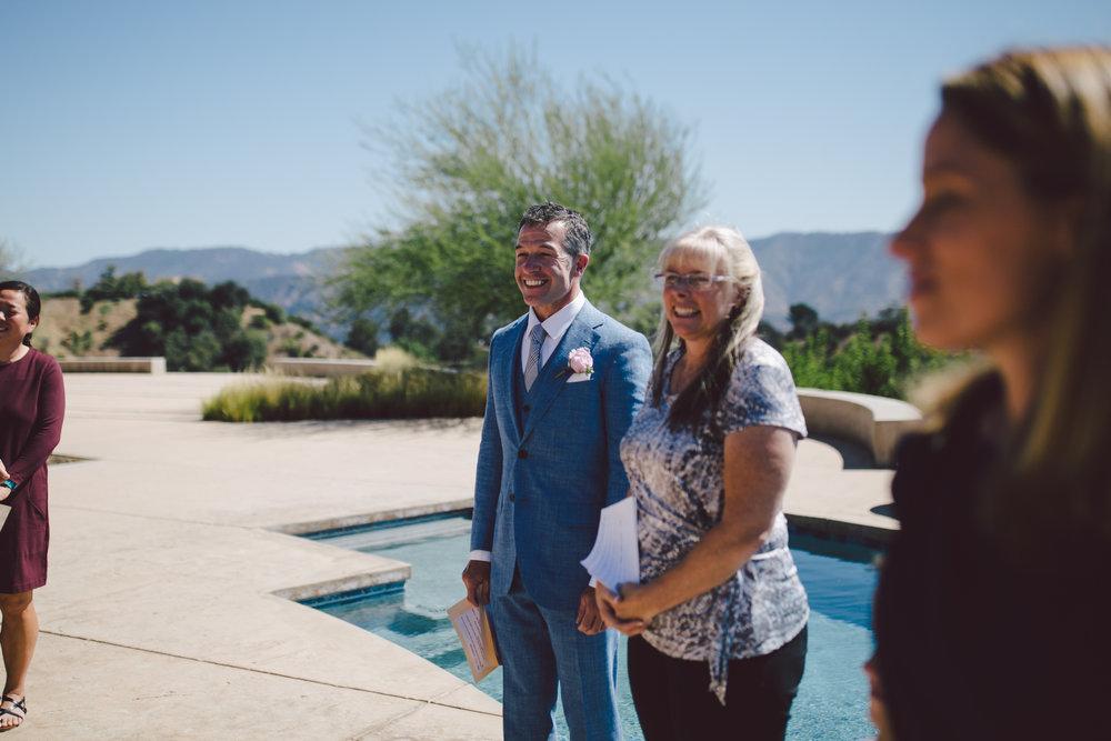 groom first look ojai elopement intimate wedding
