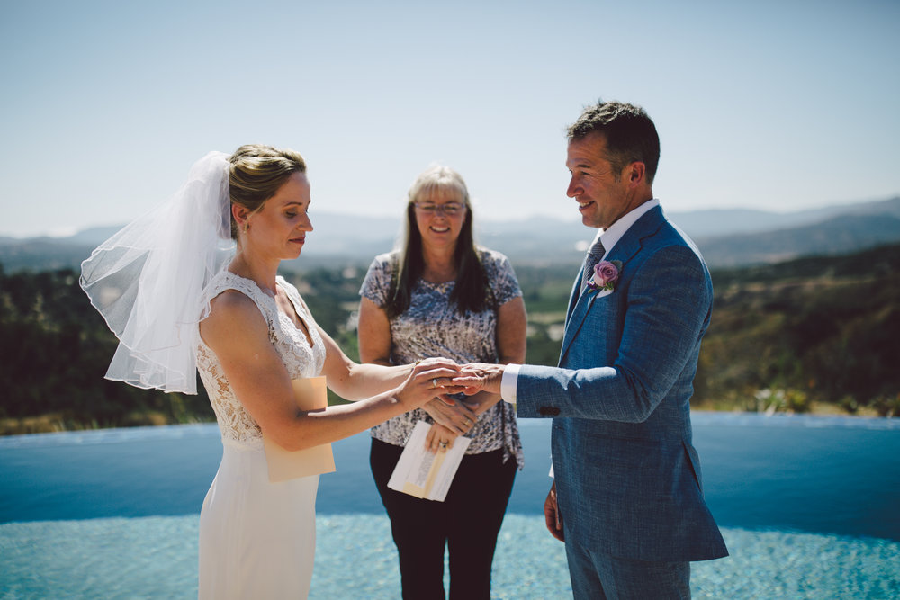 ojai california intimate wedding elopement private house
