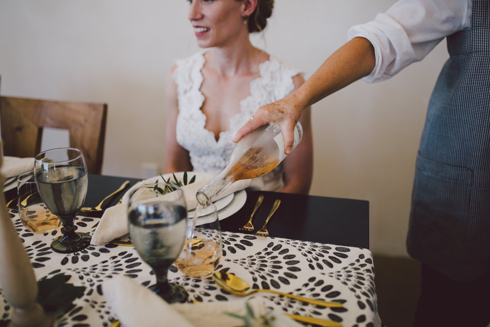 ojai intimate wedding dinner party private chef