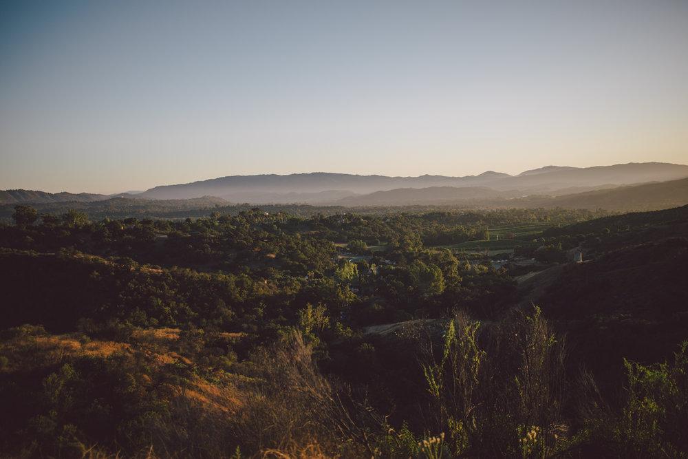 ojai elopement sunset mountain outdoor wedding private estate