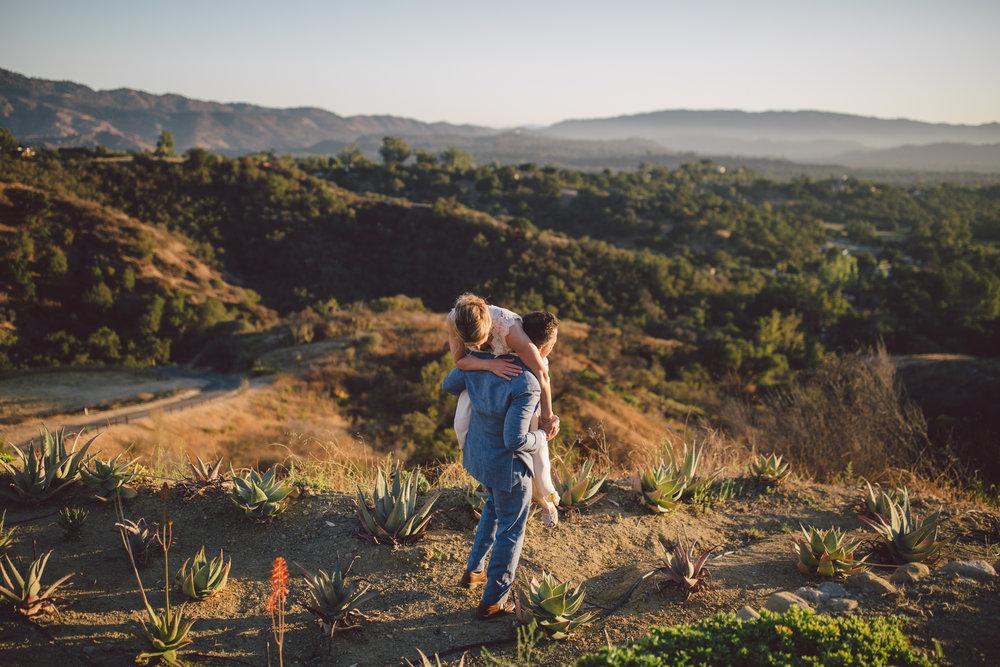 ojai couple outdoor adventure elopement california