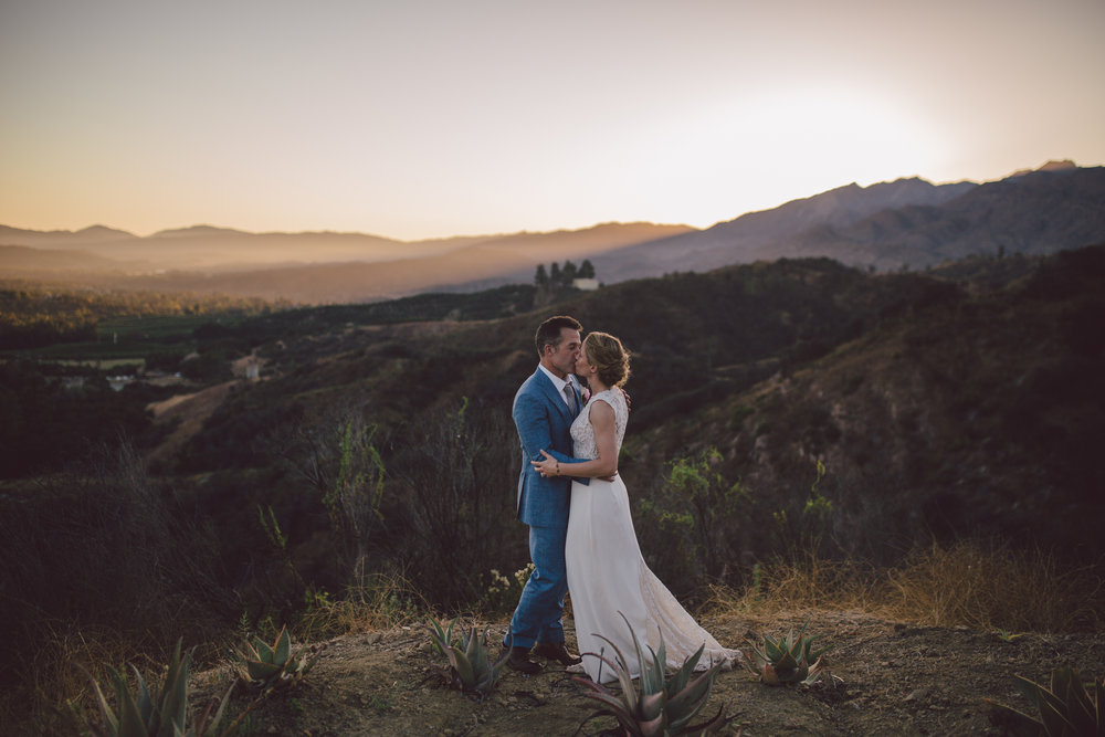 california mountain elopement ojai sunset