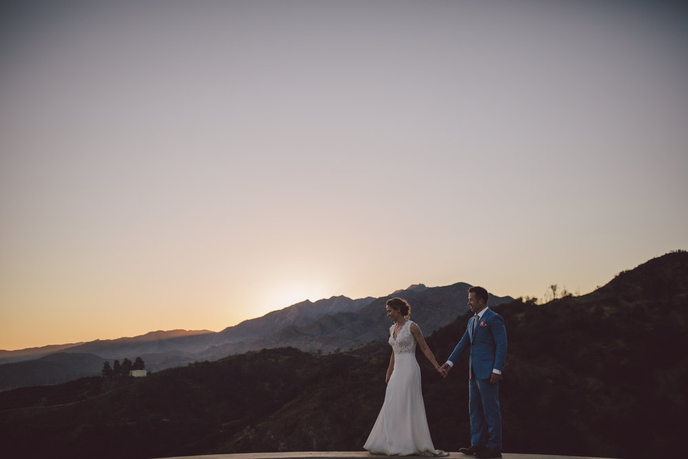 ojai mountain canyon elopement private estate sunset wedding