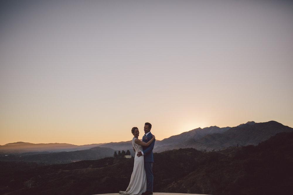 sunset elopement california elopement ojai
