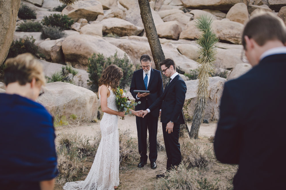 christian elopement joshua tree intimate wedding cap rock national park