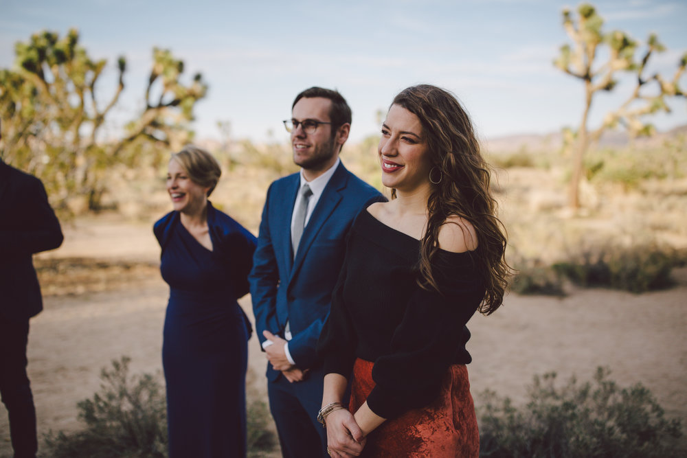 joshua tree wedding guests elopement emotional intimate
