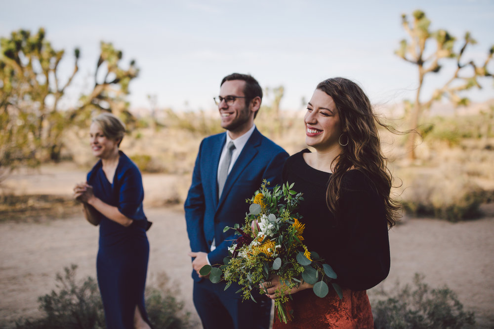 wedding guest intimate joshua tree elopement photographer