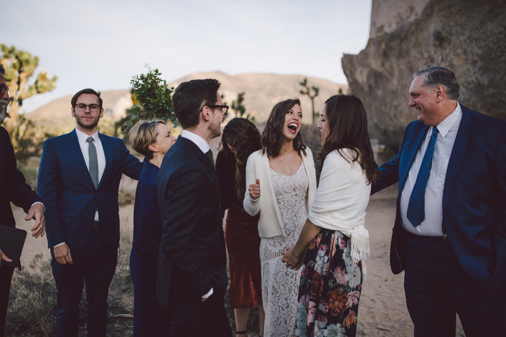 joshua tree elopement cap rock celebration bohemian simple