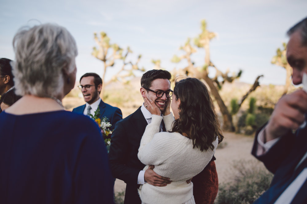 christian couple joshua tree elopement national park cap rock