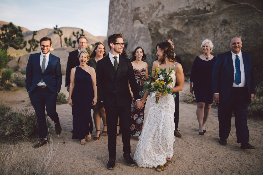 christian couple elopement family formal cap rock joshua tree