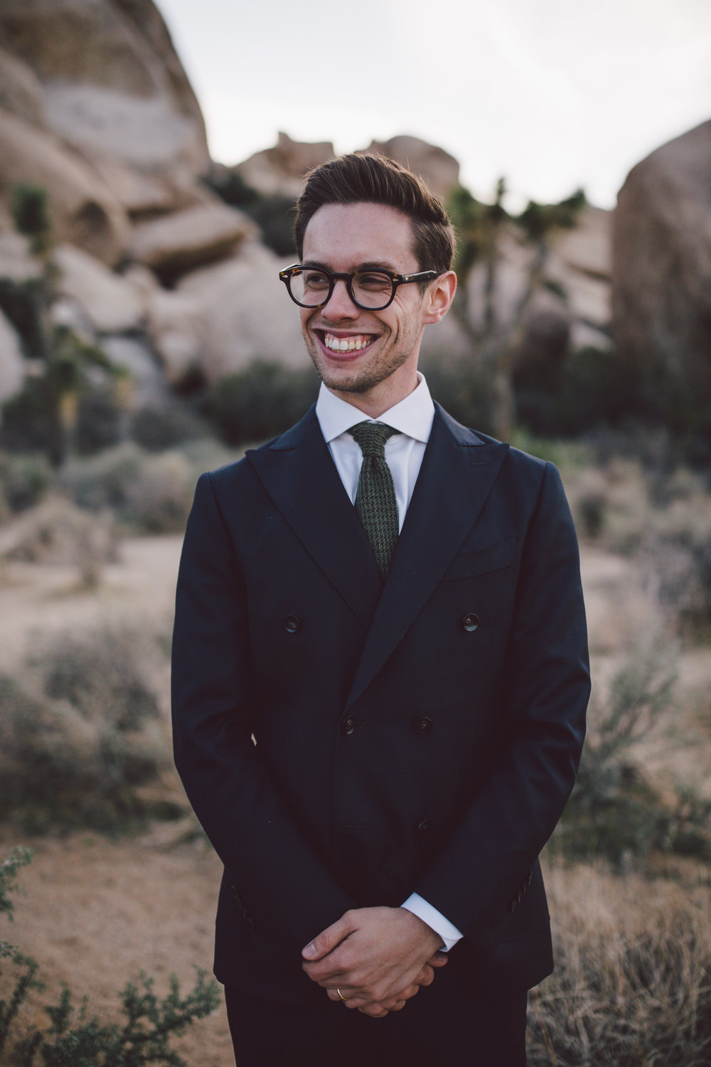 christian groom elopement joshua tree cap rock