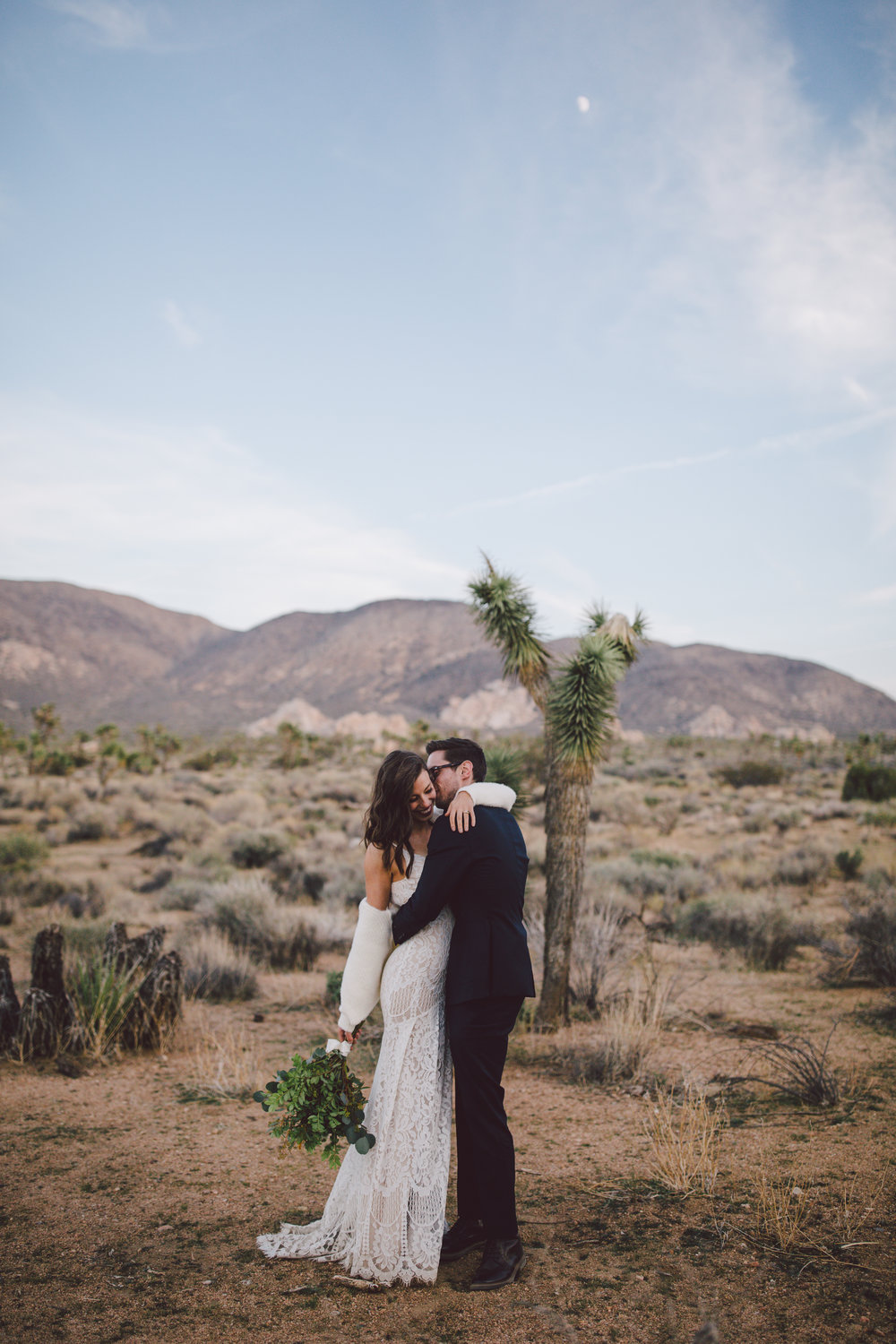 bohemian hipster joshua tree elopement intimate wedding