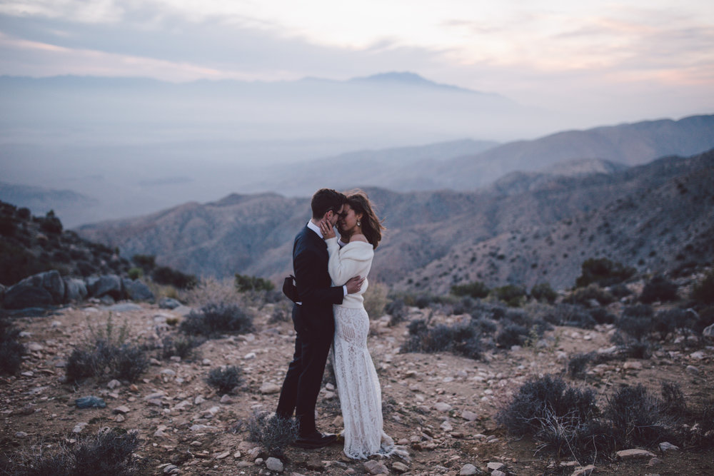 boho sunset keys view national park joshua tree california elopement
