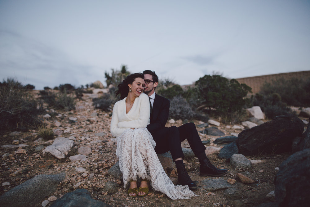 southern california elopement desert joshua tree