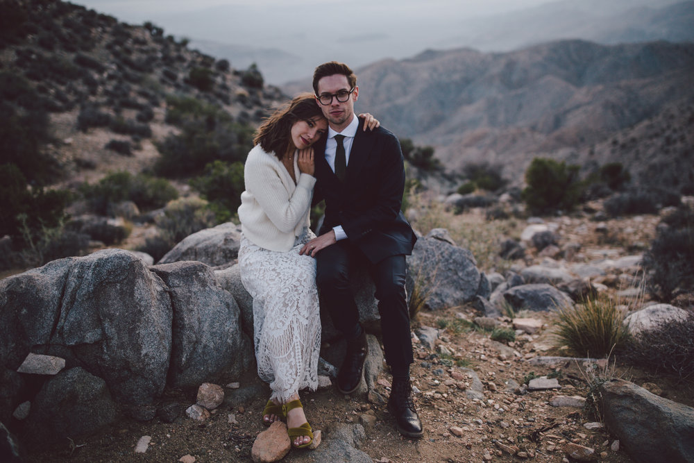 boho desert elopement joshua tree sunset keys view