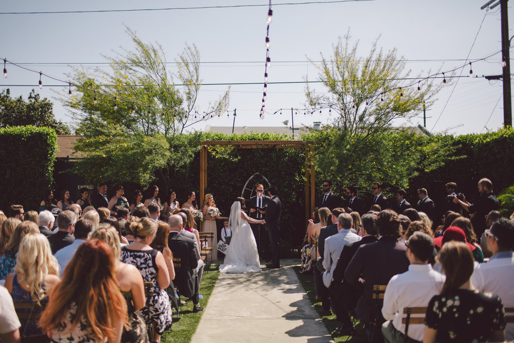 outdoor ceremony-los angeles-cool wedding venue-ruby street-highland park