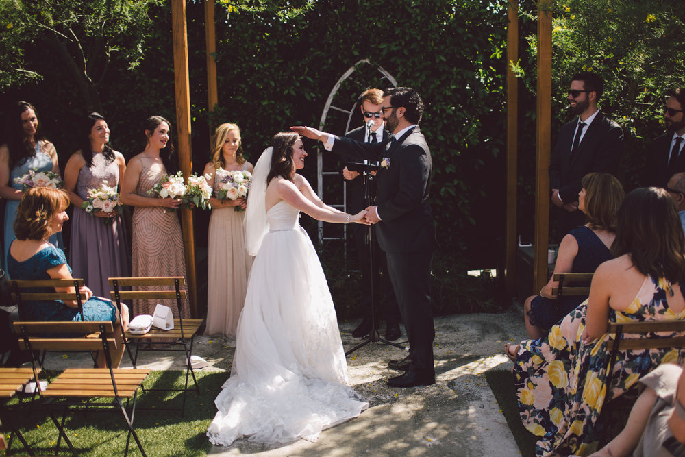 highland park-outdoor ceremony-los angeles-cool wedding venue-vows