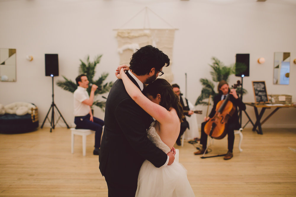 first dance-hipster-outdoor ceremony-los angeles-cool wedding venue-ruby street