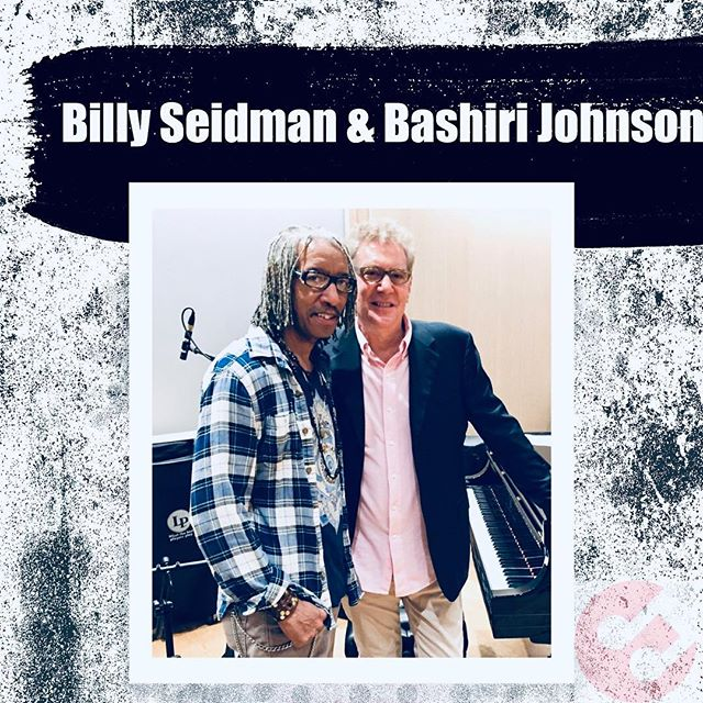 Who's out there collaborating on new music this weekend?? Pictured here is Song Arts founder, Billy Seidman, with Bashiri Johnson • @bashirijohnson is a Percussionist, Producer, and Educator in Brooklyn, New York. Managers, Producers, Engineers, Record Labels, DJ's, Artists, and Musicians the world over call upon Bash for his percussive sounds, grooves, ideas, creativity, and expertise. He lectures, hosts seminars at his recording studio, and holds children's workshops and clinics to give back to the community and inspire young people. • Join our April Songwriting Intensive @songartsacademy to network, create & collaborate with other top creatives in NYC!! [Only a few spots remain!! Reserve yours TODAY!!] • #nycmusic #songwriting #songarts
