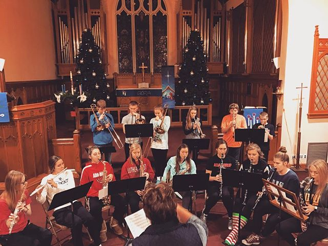 The brand new (started tonight) Grace Lutheran Senior High Band will be playing before the 3:00 pm Christmas Eve service this Saturday. Get here early to hear these talented kids!