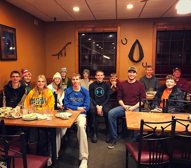Ski trip 2017! We had a great day of skiing at Andes Tower Hills, and finished it off with another trip to Pizza Ranch. I think it's becoming a tradition. (Anna, Alex, PJack, Mike, and Angie not pictured)