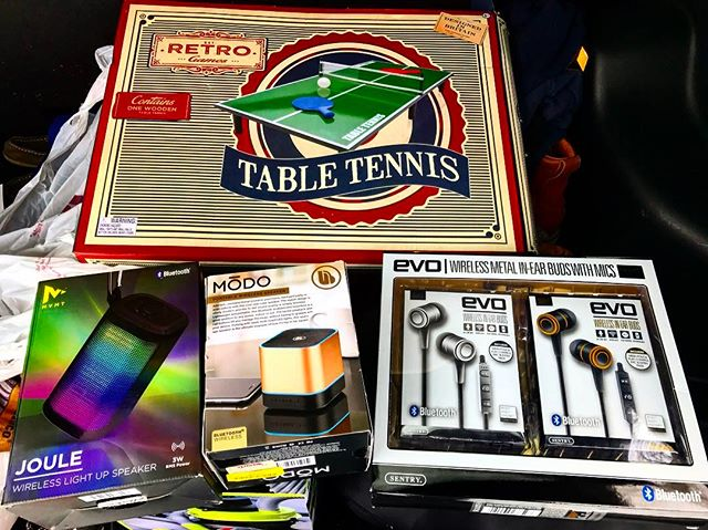 Some of the prizes up for grabs today at the Super Bowl Party at Pastor Jacks! Party starts at 5! There are a few tv's and different spaces, so there's room for people who really want to watch the game, and there's room for people who would rather play a game or watch something else. Hope to see everyone there!