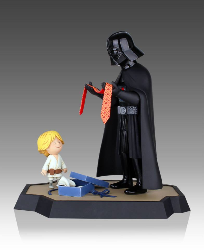 Vader's Little Princess and Son Maquette . Source: http://www.gentlegiantltd.com/