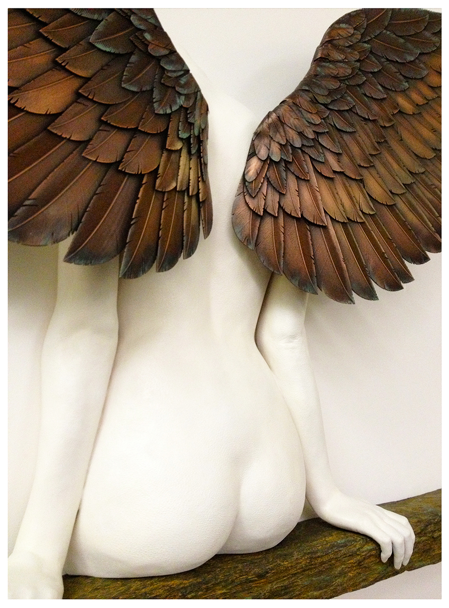 Icarus Had A Sister - The final sculpture as seen at the London/Paris 3D Print Show exhibition, 2013.