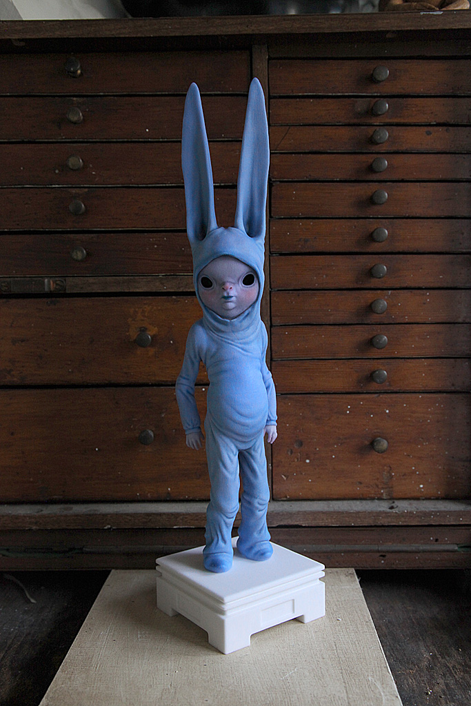 Pete also works as a fine artist creating sculptures based on his imaginative characters.
