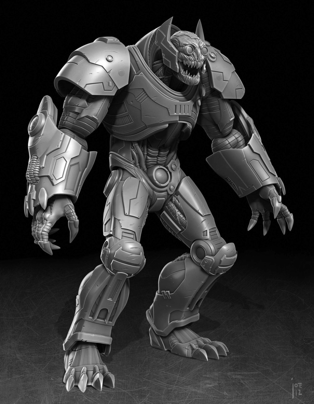 Zbrush was used to create this toy design as well as a design and engineering program called FreeForm for the articulation and a lot of the mechanical cuts. © DC Comics