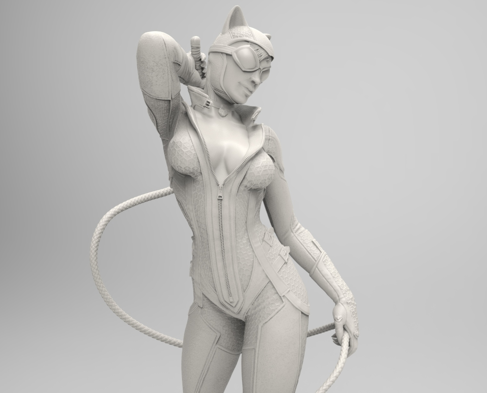 Arkham City Catwoman Statue digitally sculpted for DC Collectibles.  ©DC Comics