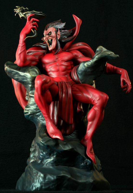 Mephisto Statue Collectible. Model Painted by Dan Cope. ©Marvel Comics