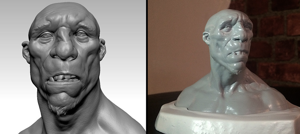 Ogre Digital Sculpt and 3D Print bust.