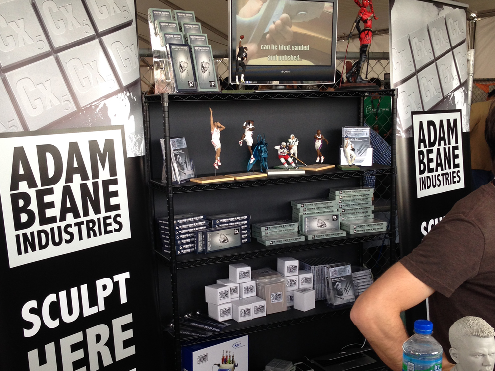 Master Sculptor Adam Beane selling his range of sculpting products.