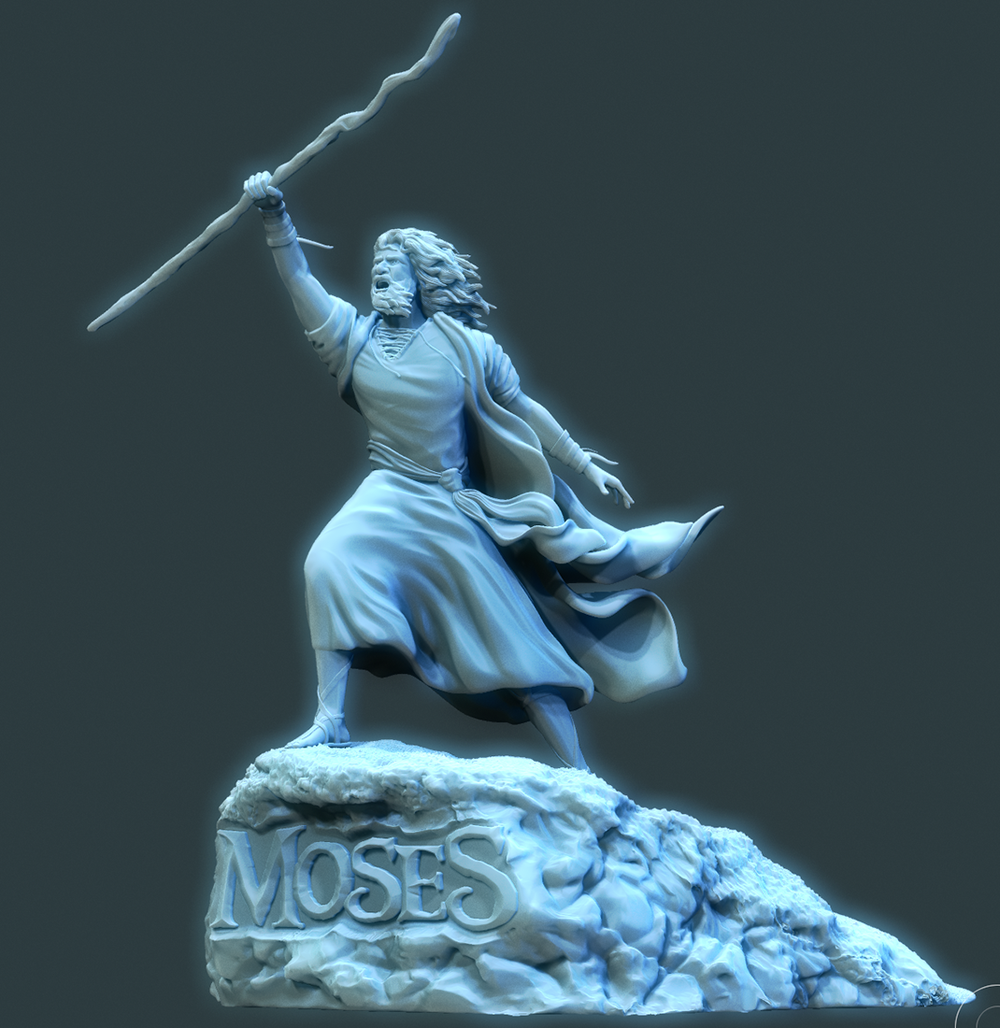 Zbrush model of the Moses Statue
