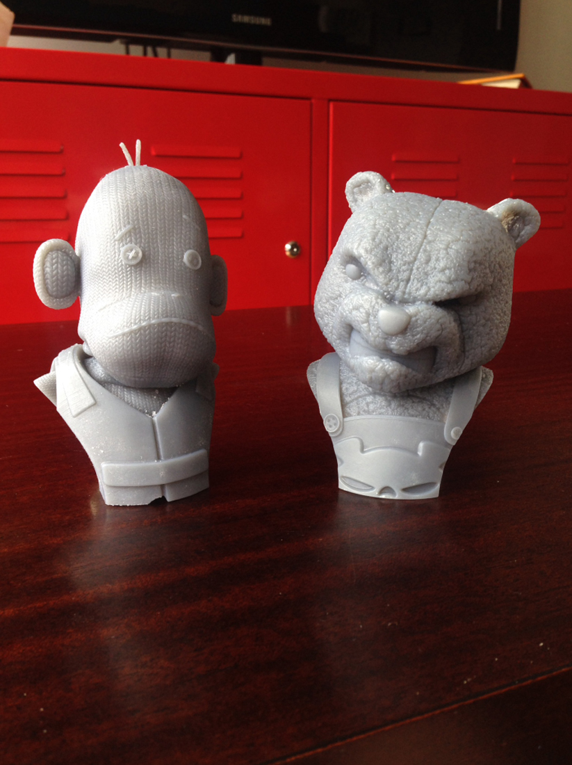3D Print of Mega Bear and SOC Busts