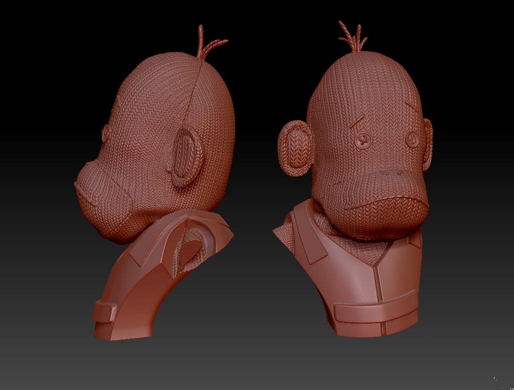 3D Model of SOC Bust