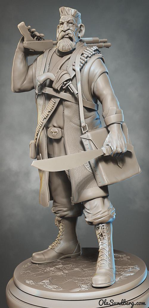 Full figure of Zombie Hunter.