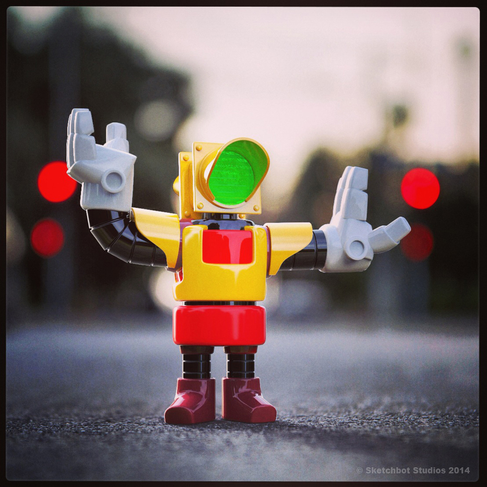 Traffic Bot 3D Render.