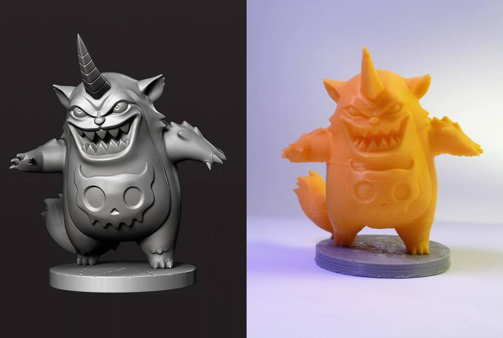 Group member Fabio Bautista shows his before/after 3D model and Print. Fabio is a Colombia based 3D modeling artist.