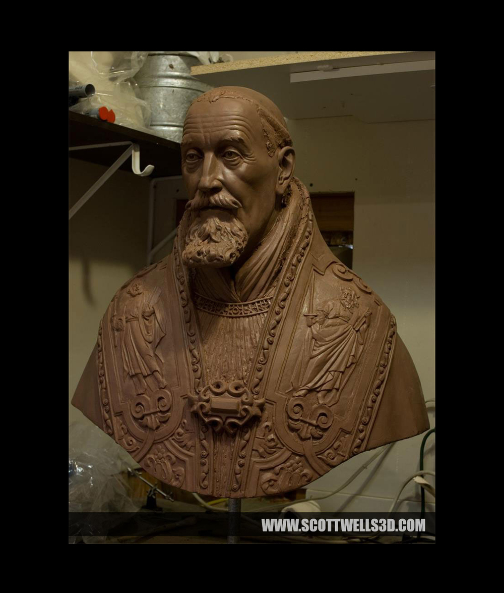 Clay Sculpture of the model that would ultimately be 3D Printed.