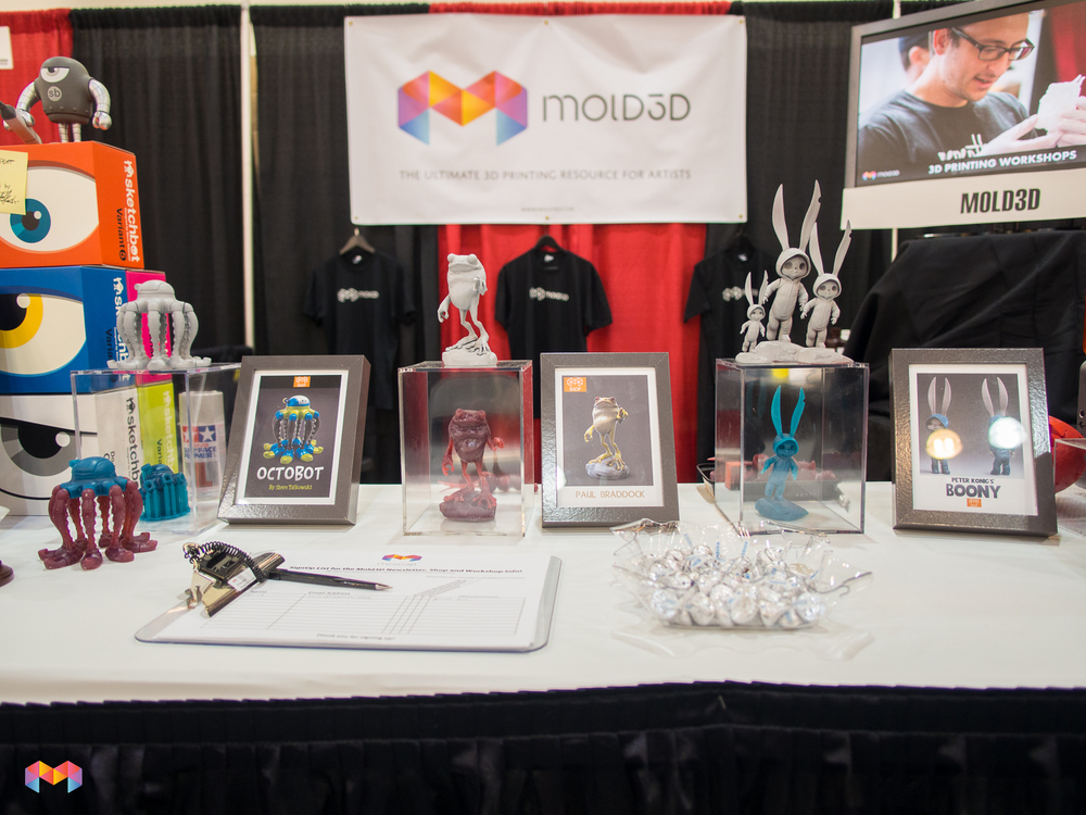 Mold3D at Designer Con.  Merging the world of Art and Designer Toys with 3D Printing