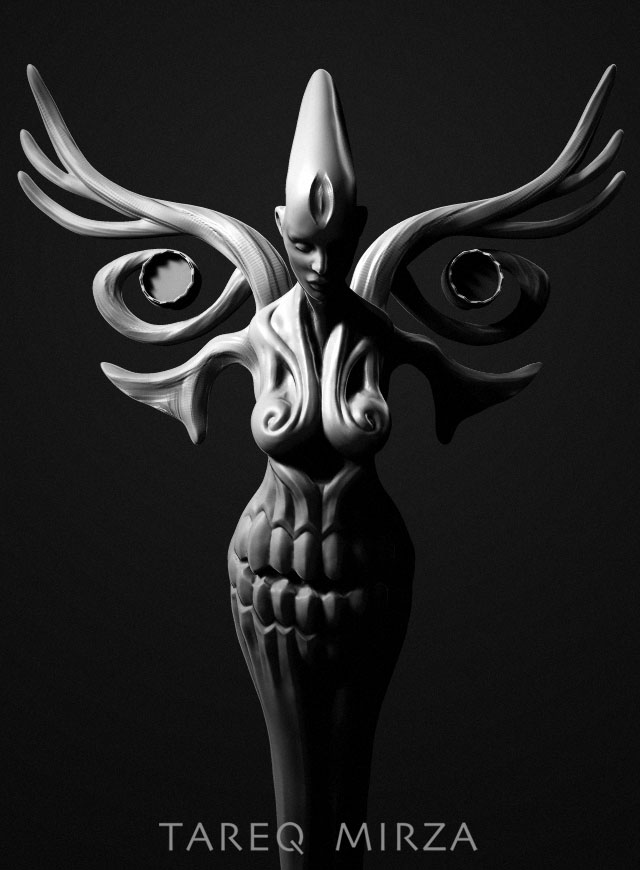 Early concept sculpt of Angel & Demon in Zbrush.