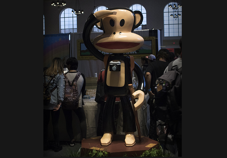 Iconic designer Paul Frank had a booth this year!
