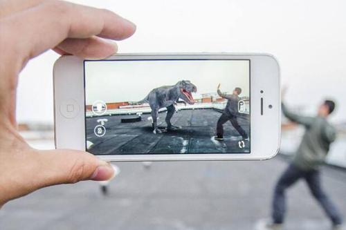an iPhone uses AR
