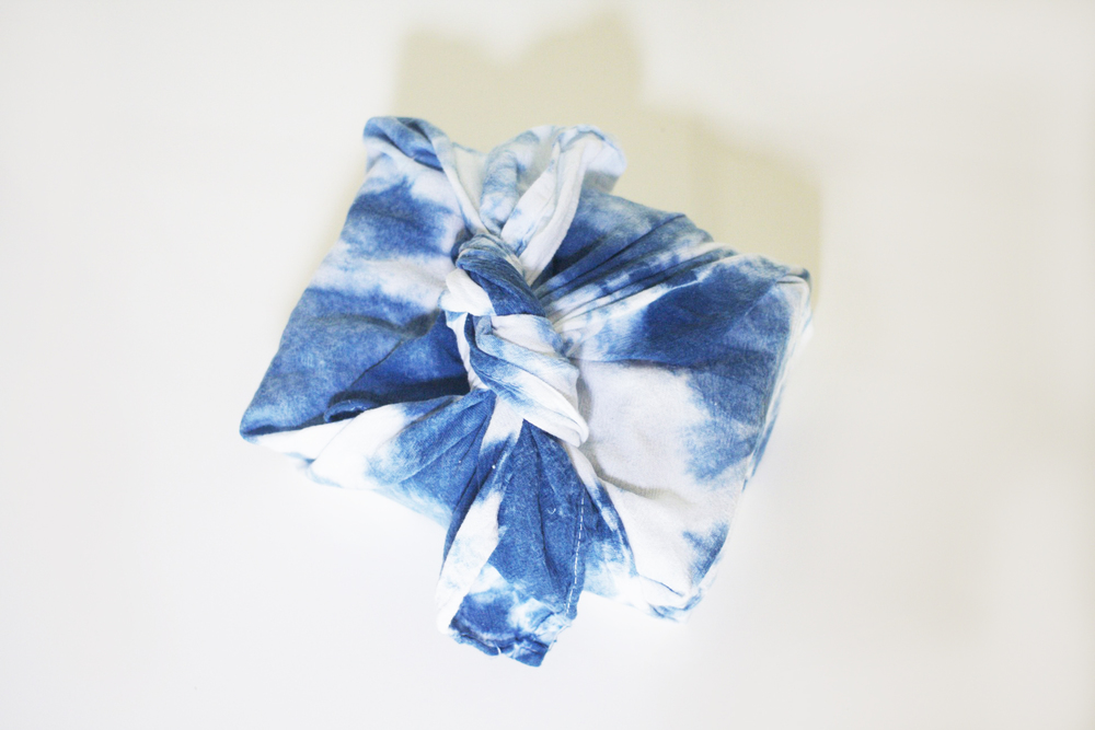 We have so much fun creating the custom Furoshiki cloths to wrap up each Party Box. For the October Blog Party, we used indigo dyeing techniques to create a unique wrap for each blogger.