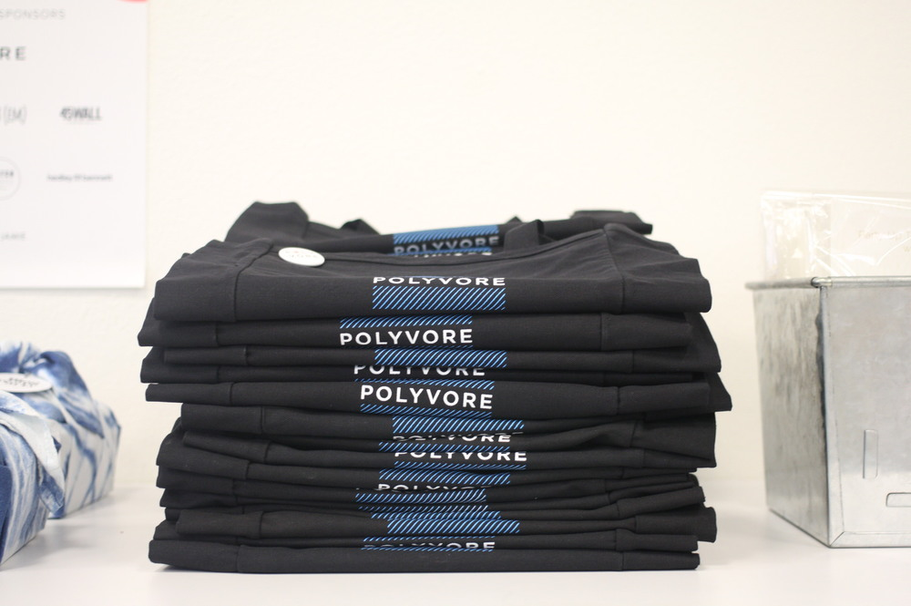 Polyvore provided tote bags and pins to tote all our goodies in at the end of the night.